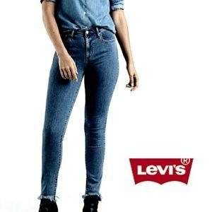 PLUS Levi's 721 High Rise Skinny Raw Hem Jeans